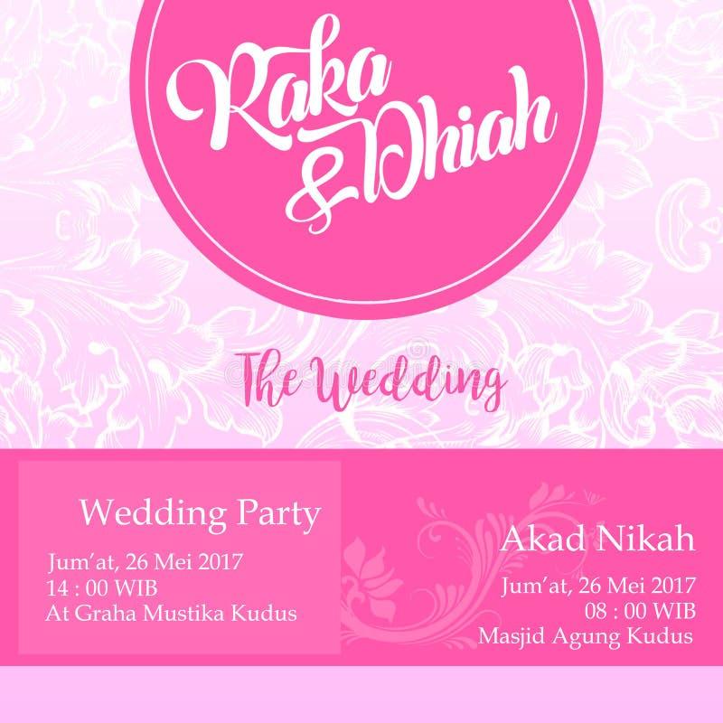 Ślubna zaproszenie pokrywa zdjęcia stock
