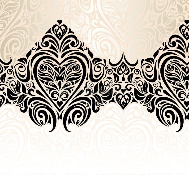 Ślubnego rocznika zaproszenia tła kwiecisty projekt obrazy stock