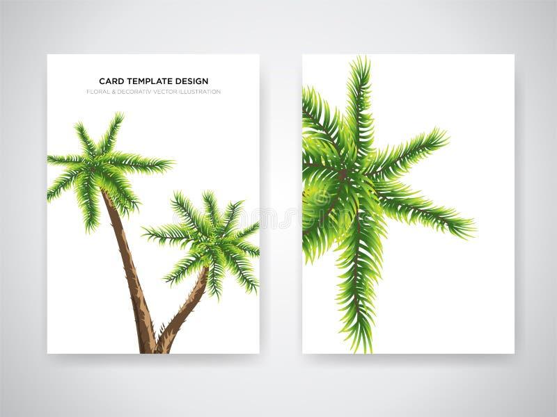 Ślubnego zaproszenia karciany projekt z Tropikalnymi kwiatami, zaprasza dziękuje ciebie, rsvp nowożytny karciany projekt Tropikal royalty ilustracja