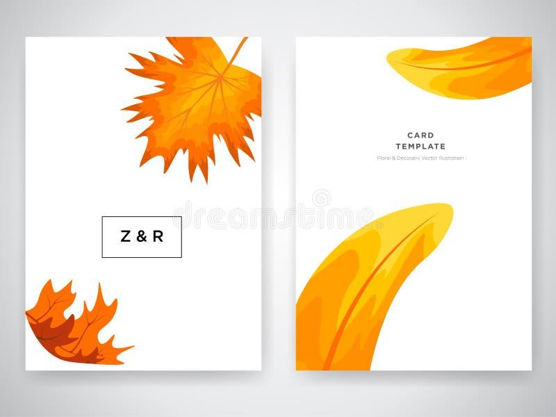 Ślubnego zaproszenia karciany projekt z Tropikalnymi kwiatami, zaprasza dziękuje ciebie, rsvp nowożytny karciany projekt Tropikal ilustracja wektor
