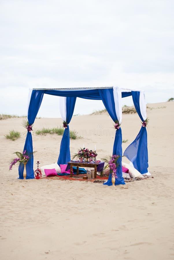 Ślubnej ceremonii przygotowania Maroko przełaz zdjęcia royalty free
