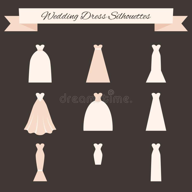 Ślubnej sukni styl ilustracja wektor