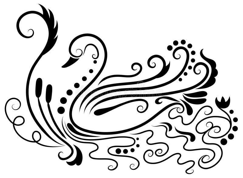Ślubni łabędź ilustracja wektor