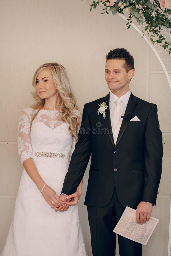 Ślubni ślubowania przy ceremonią obraz stock