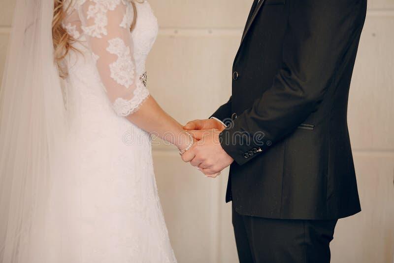 Ślubni ślubowania przy ceremonią zdjęcie royalty free