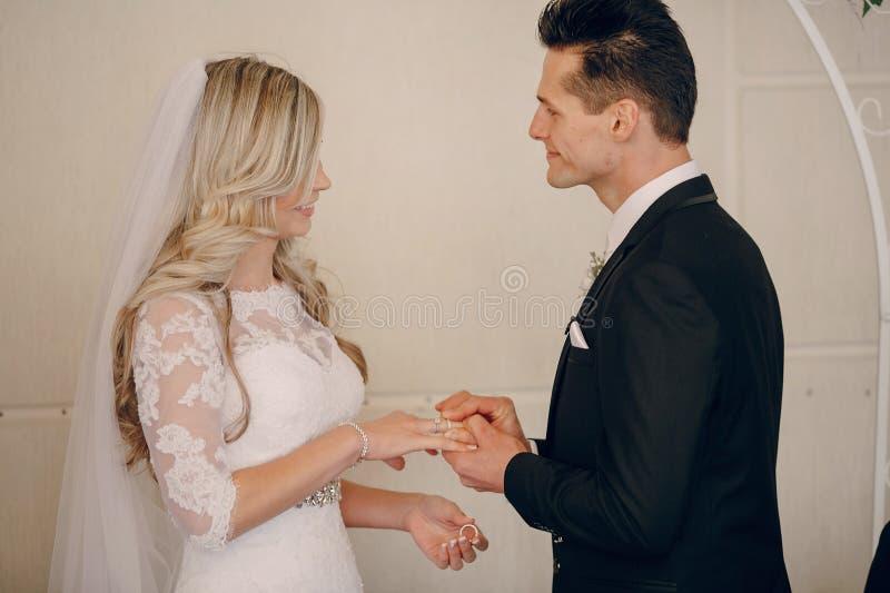 Ślubni ślubowania przy ceremonią zdjęcia royalty free