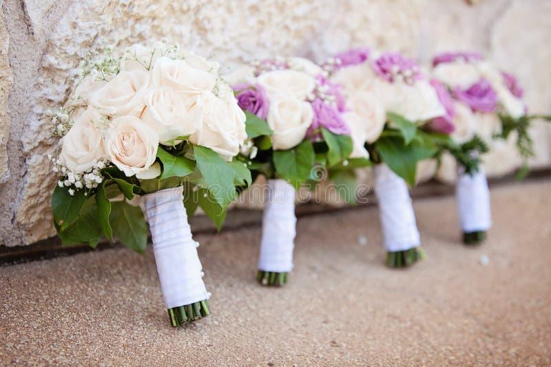 Ślubni bukiety zdjęcia stock