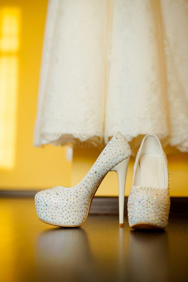 Ślubni buty obraz stock