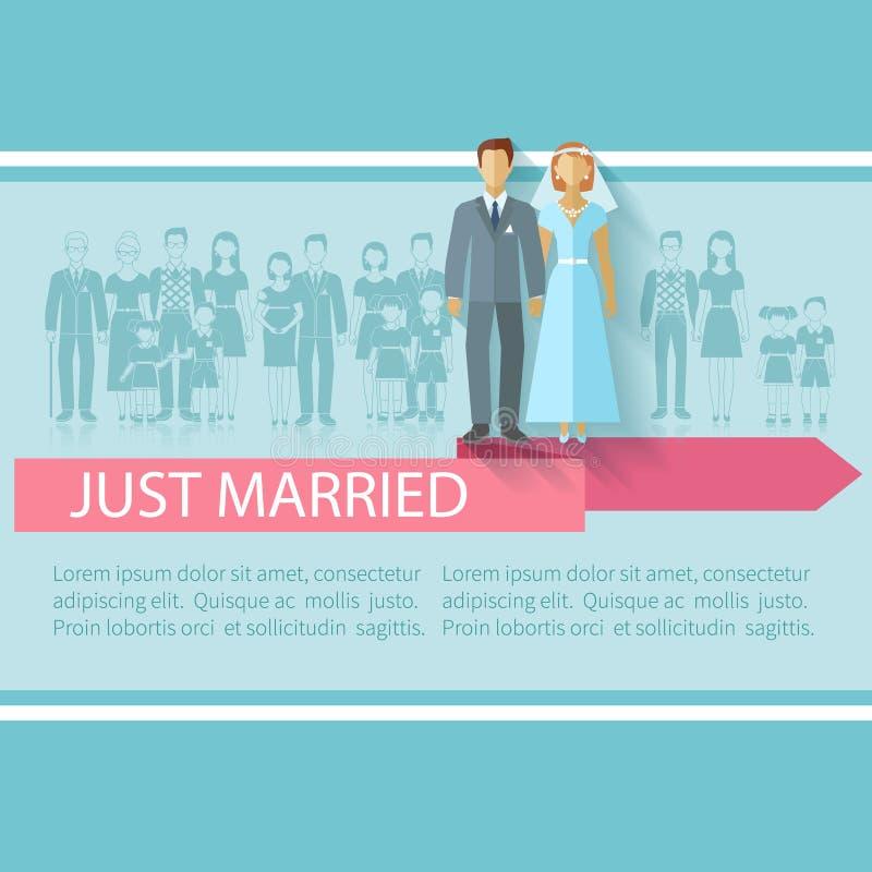 Ślubni goście Plakatowi royalty ilustracja