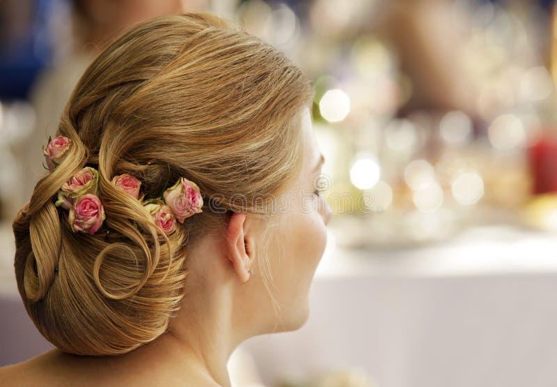 Ślubni hairdress zdjęcia stock
