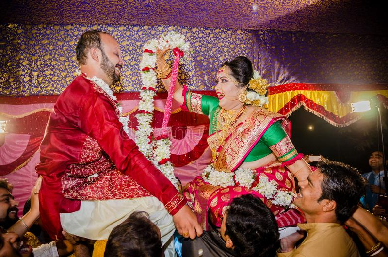 Ślubni momenty zdjęcia royalty free