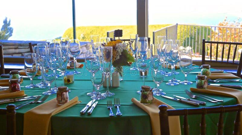 Ślubni stołowi położenia zdjęcia royalty free