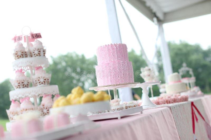 Ślubni torty zdjęcie stock