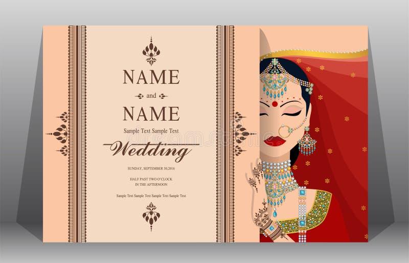 Ślubni zaproszenie karty szablony royalty ilustracja