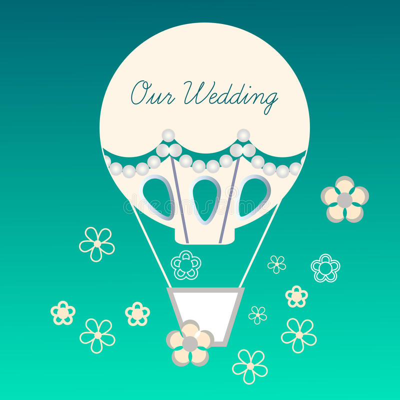 Ślubny balon royalty ilustracja