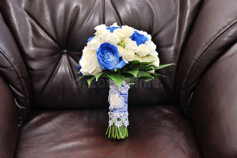 Ślubny bukiet z różami obraz royalty free
