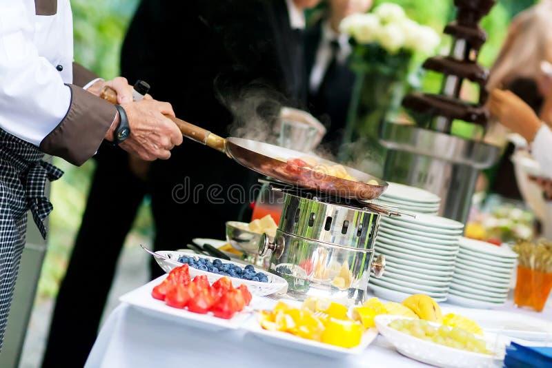 Ślubny catering obraz stock