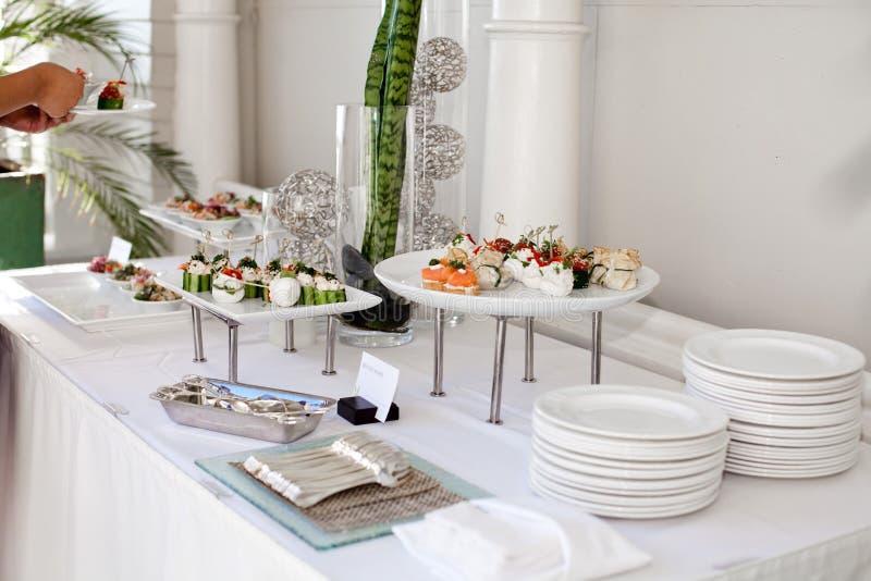 Ślubny catering zdjęcia stock