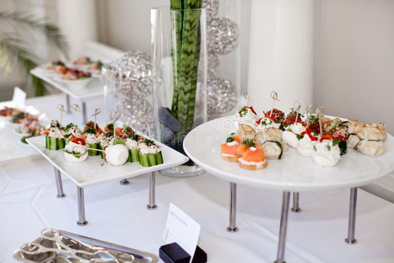 Ślubny catering zdjęcie stock