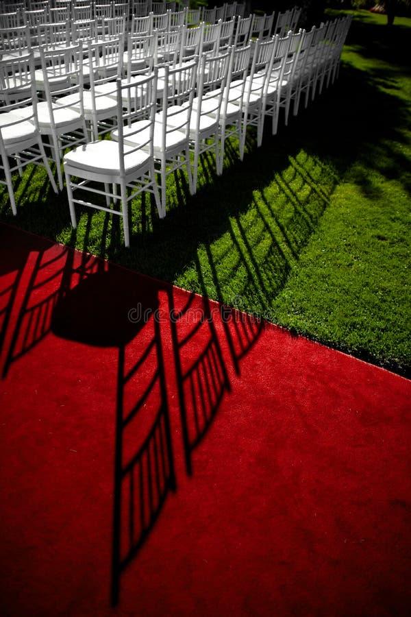 Ślubny czerwony chodnik zdjęcia royalty free