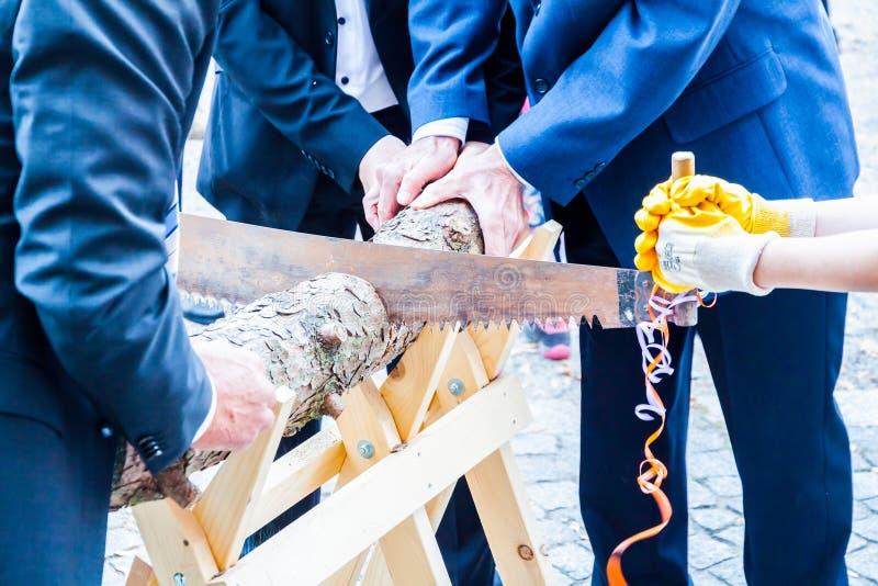 Ślubny drewniany rytuał zdjęcie stock