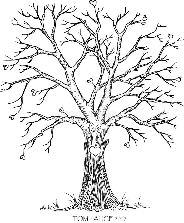 Ślubny drzewo royalty ilustracja