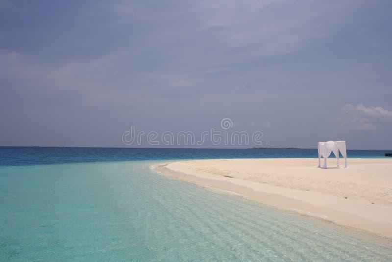 Ślubny gazebo w Maldives obrazy royalty free
