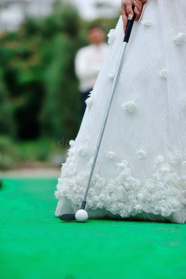 Ślubny golf fotografia royalty free