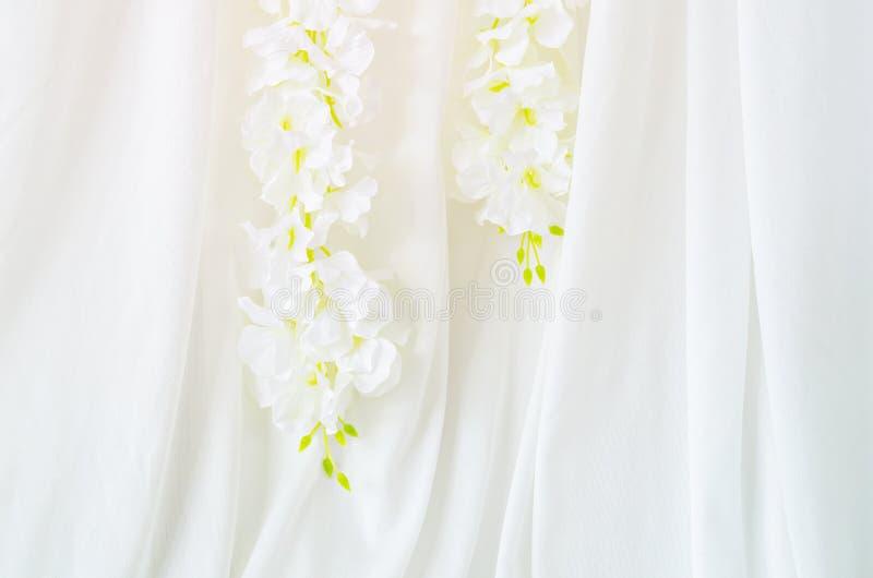 Ślubny kwiat dekoraci tło zdjęcie royalty free