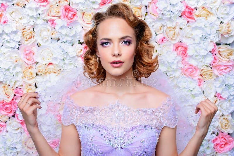Ślubny makijaż i fryzura zdjęcie royalty free