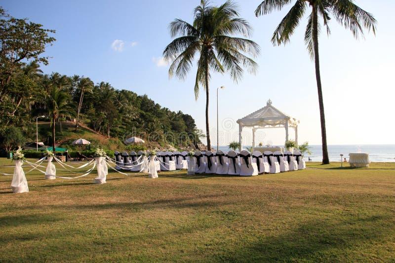Ślubny miejsce wydarzenia. obraz royalty free