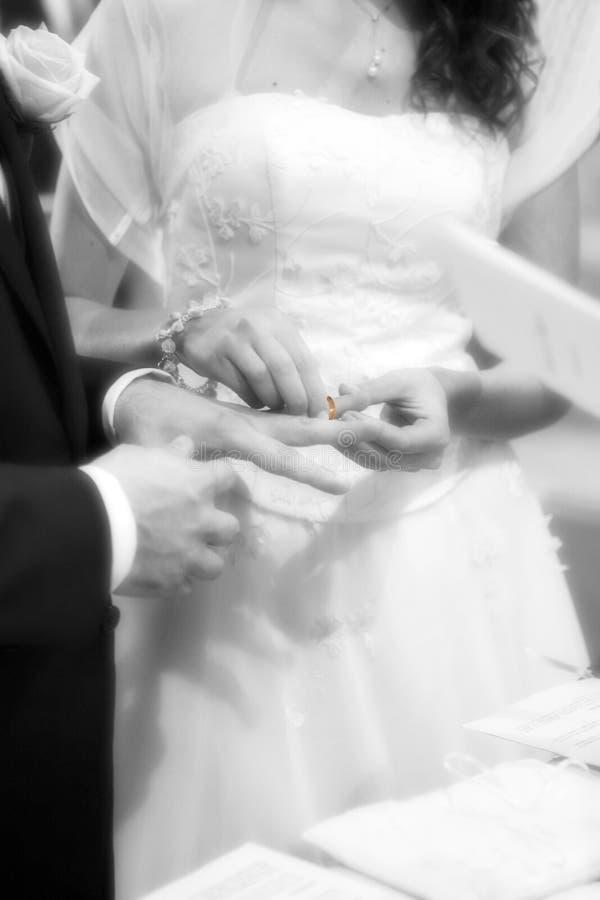 Ślubny moment fotografia stock