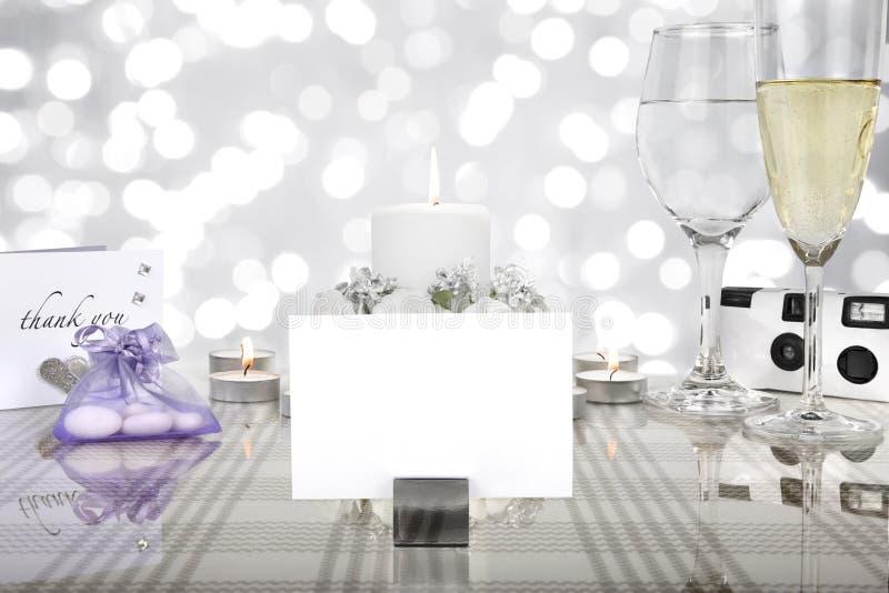 Ślubny obiadowego stołu położenie obrazy royalty free