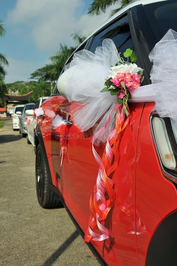 Ślubny samochód fotografia royalty free