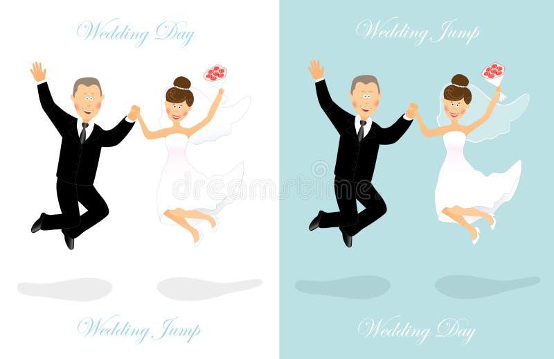 Ślubny skok 2 ilustracji