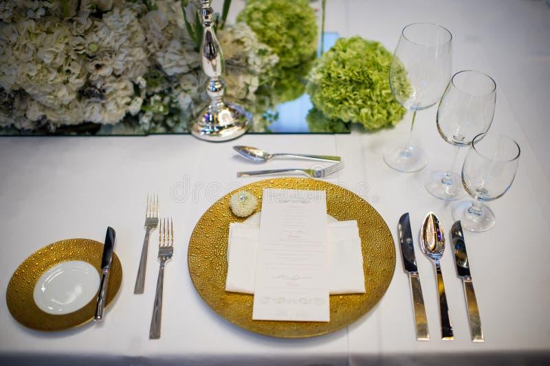 Ślubny stół obrazy stock