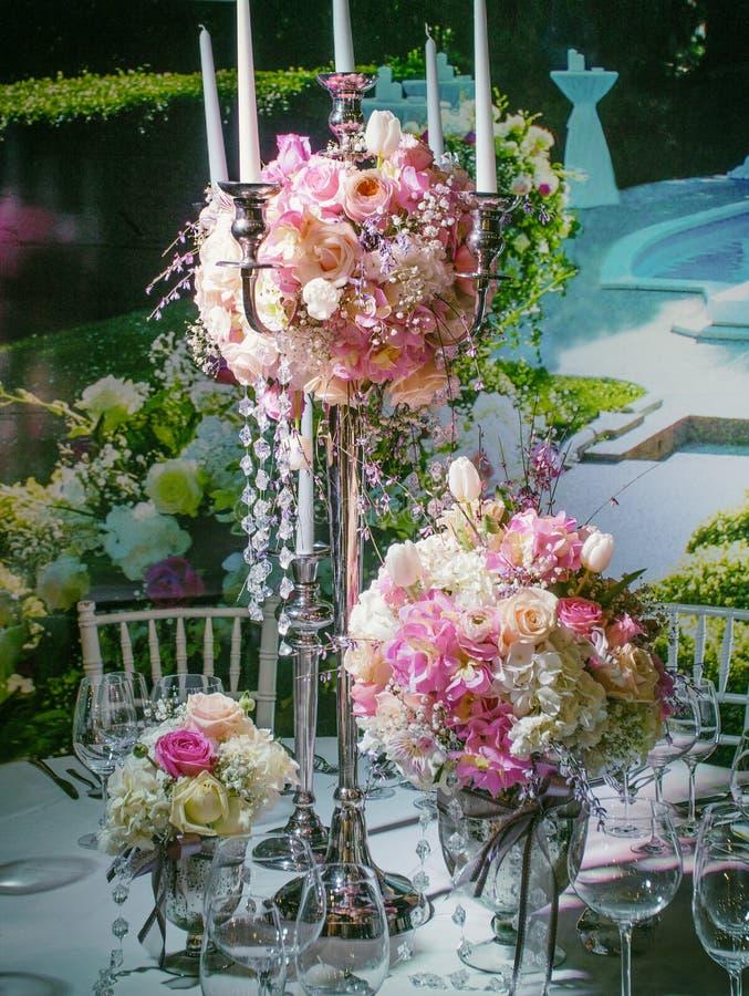 Ślubny stołowy położenie zdjęcia stock