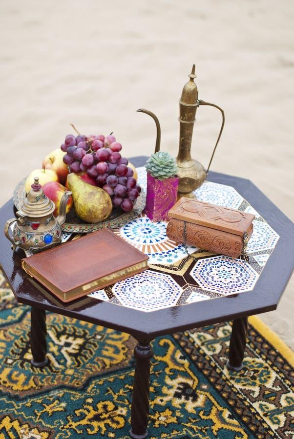 Ślubny stołowy przygotowania holu odpoczynku strefa obrazy stock