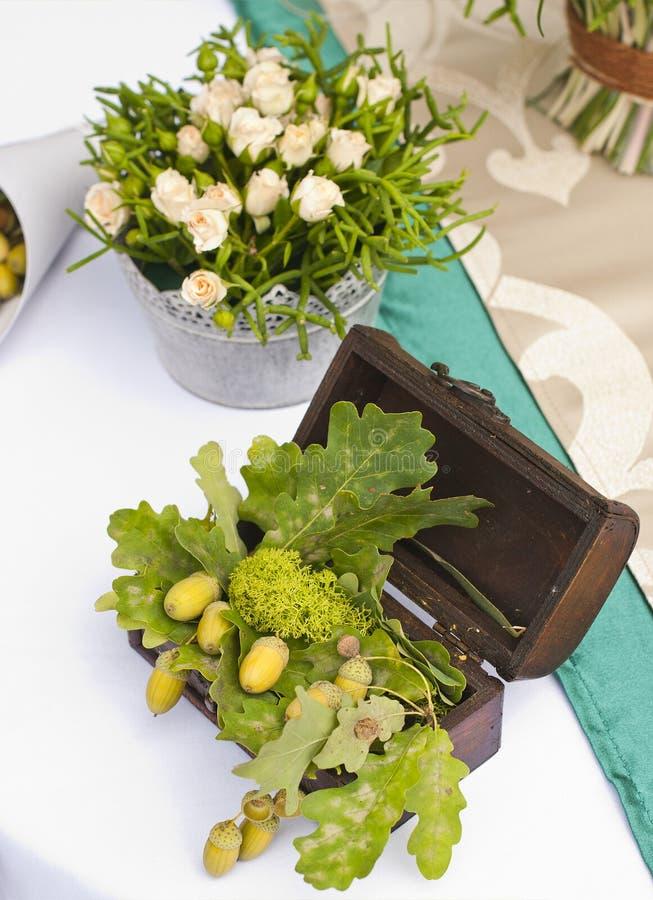 Ślubny stołowy przygotowania luksusu przełaz obraz royalty free
