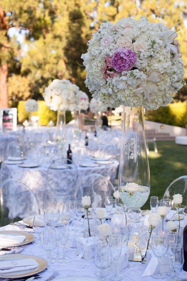 Ślubny stołowy wystrój zdjęcie royalty free