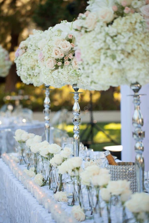 Ślubny stołowy wystrój obrazy stock