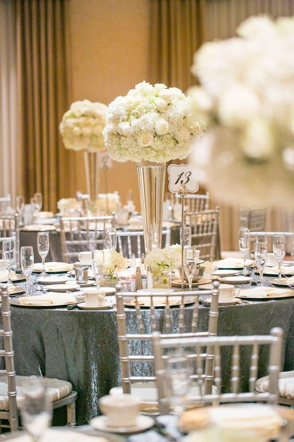 Ślubny stołowy wystrój fotografia stock