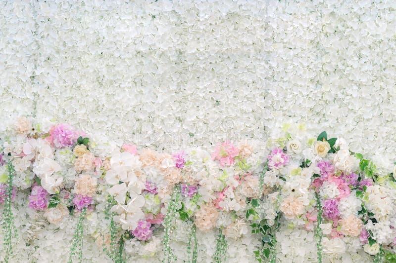 Ślubny tło z kwiatem obraz stock