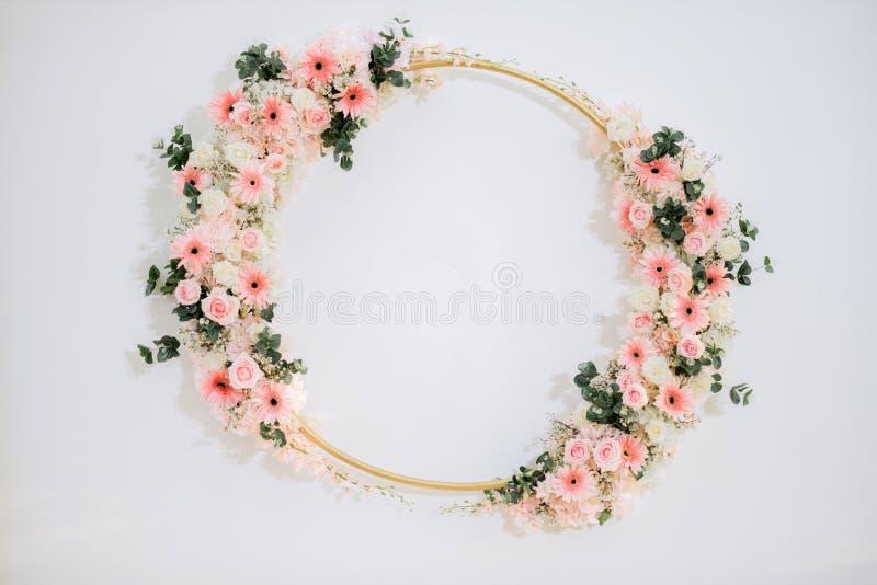 Ślubny tło z kwiatem zdjęcie stock