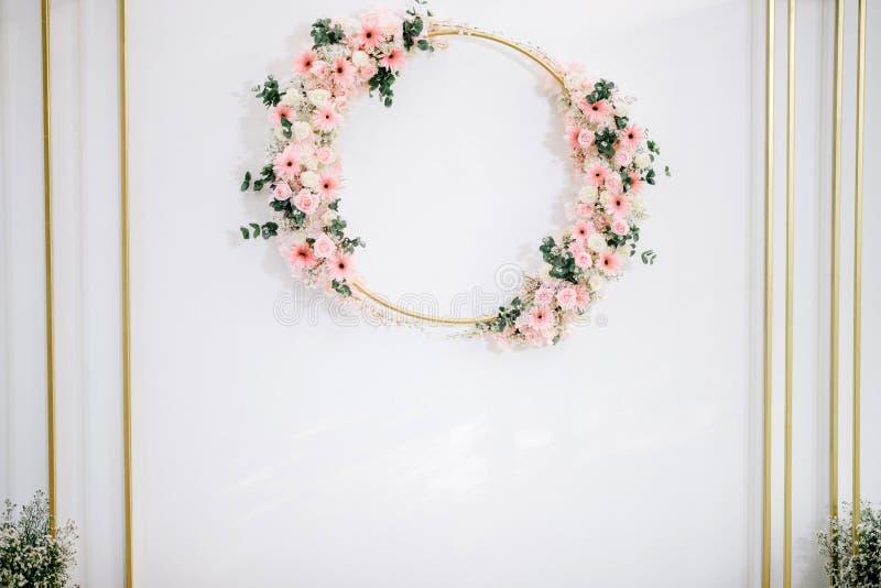 Ślubny tło z kwiatem fotografia stock