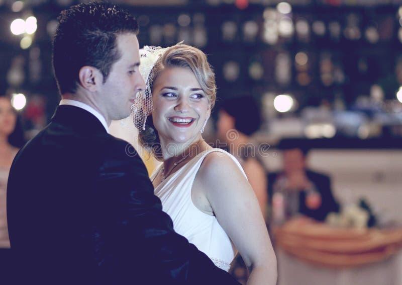 Ślubny taniec - retro obrazy royalty free
