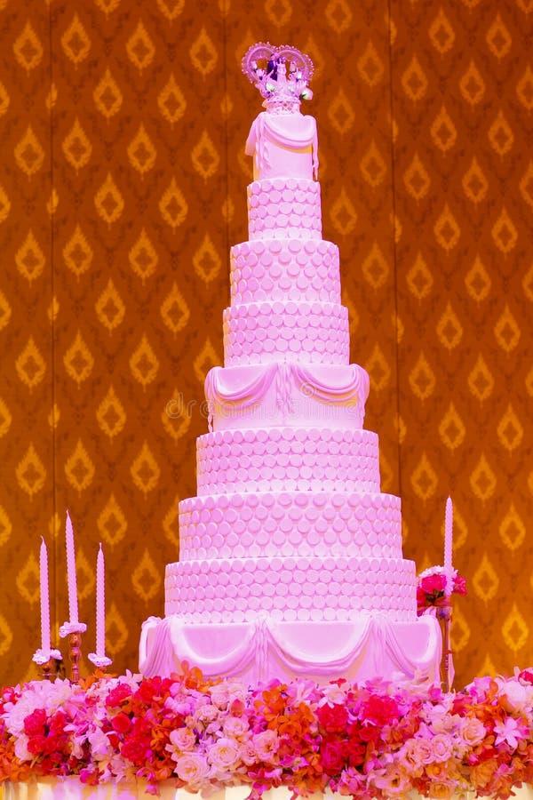 Ślubny tort zdjęcie royalty free