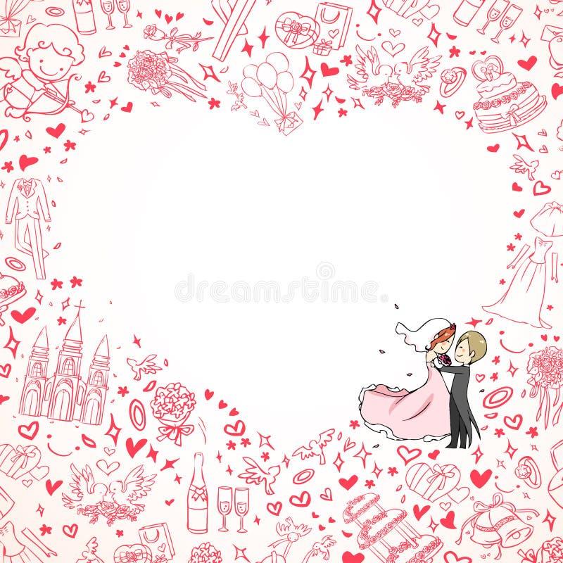 Ślubny zaproszenie ilustracji