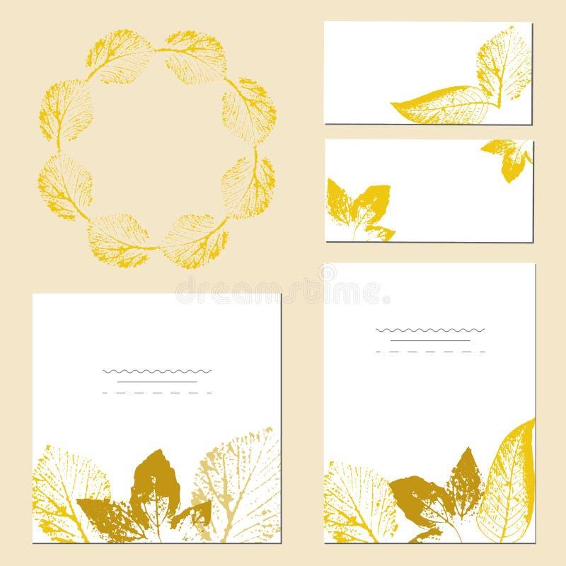 Ślubny zaproszenie, kwiecisty zaprasza dziękuje ciebie, rsvp nowożytne karty royalty ilustracja