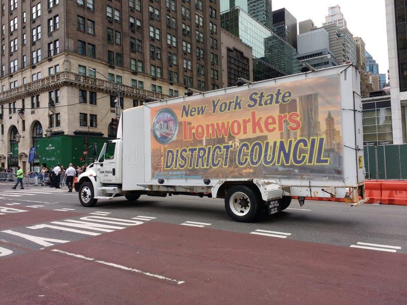 Ślusarzi, Miasto Nowy Jork święta pracy parada, NYC, NY, usa obraz royalty free